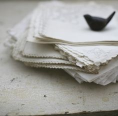 Old Linens - so beautiful.
