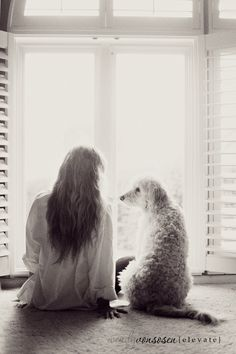 One woman and her dog - Would be neat to try to recreate this outdoors as well... hrmmm but also a very sweet indoor shot