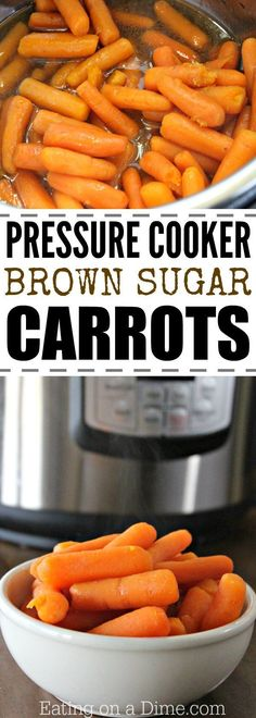 Brown Sugar Carrots Pressure Cooker Looking for a sweet carrots recipe? Try this Brown Sugar Carrots pressure cooker recipe. This simple pressure cooker carrots recipe tastes great. It is our favorite kid friendly glazed carrots recipe. Instant Recipes, Instant Pot Dinner Recipes, Side Dish Recipes, Dishes Recipes, Easy Recipes, Side Dishes, Power Cooker Recipes, Pressure Cooking Recipes, Brown Sugar Carrots