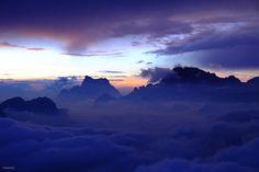 Dawn over Civetta and Pelmo (Dolomites, Italy) by Marco Ganz on 500px #Dolomiti #Dolomites #Dolomiten #Dolomitas #DolomitiUNESCO #DoloMitici #DolomitiHeart #Antelao #Pelmo #Civetta #ColMargherita #PassoSanPellegrino #ValBiois #Falcade #Veneto #Italy