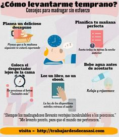 Como madrugar: Trucos para levantarte temprano sin esfuerzo. Tips de productividad para ser exitosa. Happiness Challenge, Coach Me, Morning Habits, Emotional Intelligence, Good Habits, Better Life, Personal Development, Life Hacks, Healthy Lifestyle