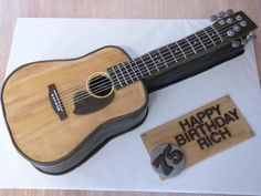 75th birthday cake made for a man who REALLY loves his guitar :)