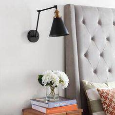 Jonathan Y Rover Adjustable Arm Metal Led Wall Sconce - Black Wall Sconce Lighting, Wall Sconces, Bedroom Sconces, Bedroom Wall Lamps, Bedside Lighting, Bedroom Lighting, Bedside Wall Lights, Cottage Lighting, House Lighting