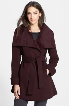 Trina Turk 'New Jane' Wool & Alpaca Blend Trim Wrap Coat available at #Nordstrom