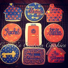 Custom housewarming cookies! Decorated with royal icing.