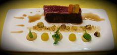 Controfiletto di Vicciola con maionese di nocciola e laccatura al miele, olio di nocciola e mandarino - Chef Damiano Nigro