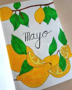 Portada de mayo!! May cover page!!  #bulletjournal #bulletjournalsetup #bulletjournalcoverpage #coverpage Bullet Journal Set Up, Bullet Journal Cover Page, Cover Pages, Fruit, Instagram, Day Planners, Art, The Fruit
