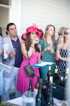 Love the style at the Wilmington Wine & Food Festival!  #wilmington #wilmingtonnc #wilmingtonwineandfood #wineandfood #kentuckyderby #wine #travel