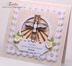 Sakrament Bierzmowania/Kartka na bierzmowanie/Card for confirmation Confirmation Cards, Diy Gift Box, Easter, Crosses, Frame, Card Ideas, Gifts, Christian, Google