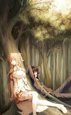 Sword Art Online, Asuna + Kirito, by Shirogane Zebra