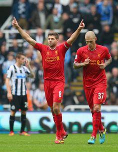 Steven Gerrard - Newcastle United v Liverpool - Premier League