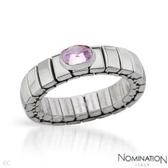 NOMINATION ITALY Made in Italy Attractive Solitaire Ring With 0.65ctw Cubic zirconia Well Made in Stainless steel (Size 7) NOMINATION ITALY. $22.00