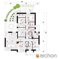 Dom w galach Bungalow, House Plans, Floor Plans, House Design, Cabin, Flooring, How To Plan, Architecture, House Styles
