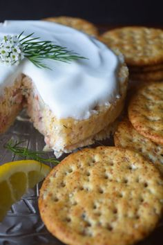 This Savory Smoked Salmon 'Cheesecake' is a unique and delicious appetizer for any occasion, it's guaranteed to be the hit of the party! Holiday Appetizers, Yummy Appetizers, Appetizer Recipes, Brunch Recipes, Fish Recipes, Seafood Recipes, Cooking Recipes, Seafood Dip, Savory Cheesecake