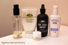 morning and nighttime skincare routine for oily combination skin