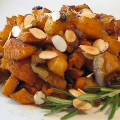 """Roasted Sweet Potatoes & Onions 