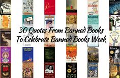 These 30 quotes from banned books celebrate Banned Books Week History Education, Teaching History, Book Club Books, Book Lists, Book Clubs, Book Club Recommendations, Library Skills, Library Ideas, Social Studies Notebook