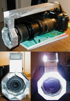 I created a macro flash ring using only the camera's built in flash. This setup takes a while to make, but the results are excellent. The casing is made out of cardboard. Simply line the insides with smooth aluminum foil and tape the duct to the pop up flash and you're set! DIY: Ring flash   ADIDAP