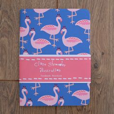 These cool, quirky notebooks are designed and made in the UK and feature thick, quality recycled cartridge paper. Cool Stationery, Flamingo Pattern, Pink Bird, We Fall In Love, Scribble, Beautiful Children, Hand Stitching, Kids Playing, Pretty In Pink