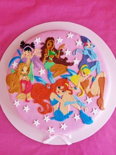 winx birthday cake - Google Search Winx Club, Unicorn Themed Birthday Party, 9th Birthday Parties, Haribo Birthday Cake, Birthday Cakes, Mochi, Fairy Cakes, Just Cakes, Occasion Cakes