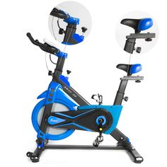 XtremepowerUS 29lbs Exercise Bike Pro w/ Articulating Frame Technology Blue * See this excellent product. (This is an affiliate link ). Cardio, Exercise, Bike, Technology, Ejercicio, Bicycle Kick, Tecnologia, Excercise, Tech