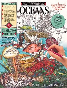 Oceans Coloring Book A Fact Filled Colouring Start Exploring Von Diane