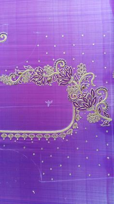 Hand Work Blouse Design, Simple Blouse Designs, Sari Blouse Designs, Designer Blouse Patterns, Bridal Blouse Designs, Aari Embroidery, Simple Embroidery, Hand Designs, Flower Designs
