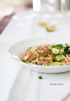 Marinated Tofu Stir-Fry with Bok Choy from @Reem | Simply Reem