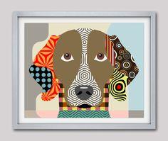 Weimaraner Art Print Poster, Weimaraner Gifts, Weimaraner Dog Pet Portrait, Animal Art, Dog Painting, Dog Wall Art    AVAILABLE FOR SALE