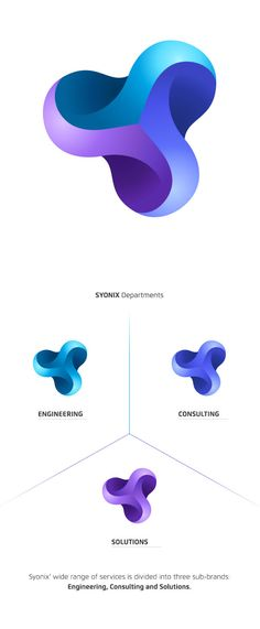 Software Development Company Identity by Necon - Graphic Templates Search Engine Gfx Design, Icon Design, Graphic Design, Brand Identity Design, Corporate Design, Branding Design, Logo Software, Three Logo, Gradient Logo