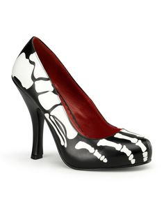 I just got these for our Engagement Photos! He's got the men's version. -Womens Skeleton Black & White Pump Shoes