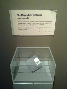 Original Morris Worm floppy from 1988