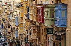 Beautiful architecture in La Valetta, Malta. by vanto5, via Flickr