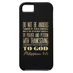 Christian Scriptural Bible - Philippians 4:6 Case For iPhone 5/5S