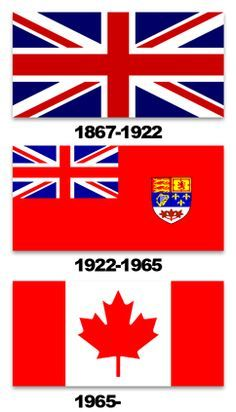 Canada's flags through the years