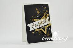 Der heutige IN{K}SPIRE_me Sketch kommt von Jenny. Ich mag ihn total gern und habe eine Weihnachtskarte daraus gemacht. Schwarz, gold und das weiß dazu sieht klasse aus, finde ich.