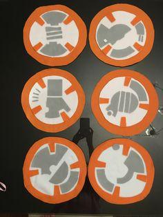 BB-8 droid costume parts:  anti-pill fleece and felt
