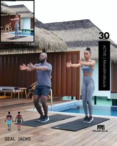 A full body HIIT workout — no equipment required Improve heart health, increase fat loss and strengthen and tone your muscles. Fitness Workouts, Full Body Hiit Workout, Gym Workout Videos, Gym Workout For Beginners, Fitness Workout For Women, Body Fitness, Physical Fitness, Workout Plans, Leg Workout Women