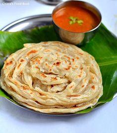 How to make parotta recipe with less oil - Kerala special Malabar parotta - Its eggless too !