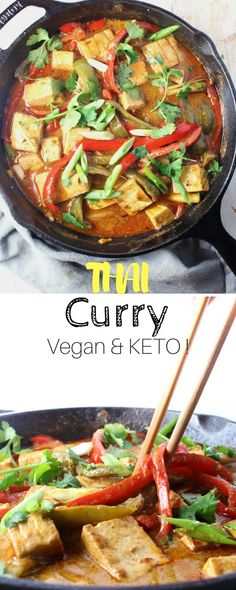 Vegan Thai Curry - This is a sweet and spicy recipe that is both vegan and keto. If you're craving a curry tonight, look no further.