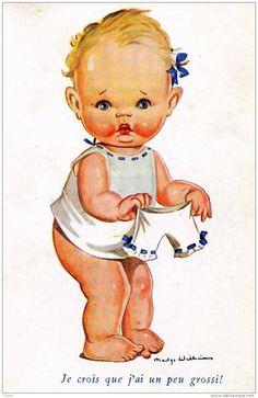 "Madge Williams postcard - ""I think I got bigger!"""
