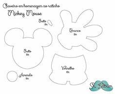 Chaveiro em homenagem ao Mickey com molde gratuito e PAP em vídeo | srfeltrim