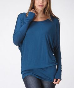 Look what I found on #zulily! Navy Scoop Neck Dolman Top by Bellino #zulilyfinds
