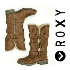 ✨  Roxy. ✨ Brown Roxy fargo boots. Genuine leather and lined with faux fur. Never worn! NWOT. Roxy Shoes Ankle Boots & Booties