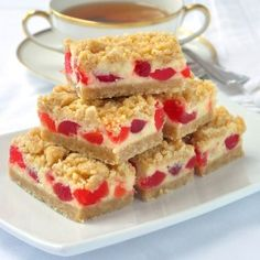 Cherry Vanilla Cheesecake Bars - Rock Recipes - Rock Recipes