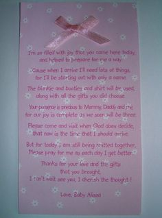 Baby Shower Thank You Poems | ... To Personalized Poetry Baby Shower Thank  You