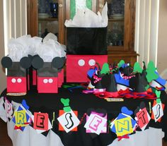 Mickey Mouse Clubhouse party - love the hats for all the characters!!!!