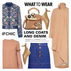"""""""What to wear: LONG COATS AND DENIM"""" by ifchic ❤ liked on Polyvore featuring Rachel Comey, Needle & Thread, Ancient Greek Sandals, N°21, ZAC Zac Posen, TIBI and contemporary"""