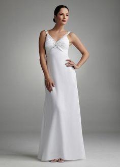 David's Bridal Beaded Tank Sleek Chiffon Gown Style 231M09330: http://www.amazon.com/Davids-Bridal-Beaded-Chiffon-231M09330/dp/B005FOLW62/?tag=greavidesto05-20