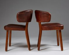 Pair of chairs designed by Hans-Christian Hansen & Viggo Jörgensen for Johannes Hansen, — Modernity